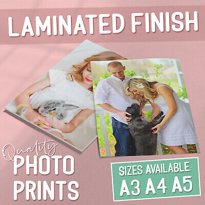 A3 A4 A5 Personalised Photo Print Laminated Picture Image Prints Gift Poster Art