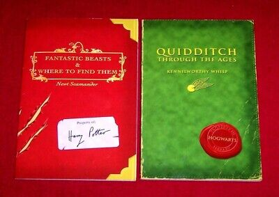 2 HARRY POTTER Fantastic Beast & Quidditch Through the Ages Hogwarts Paperback