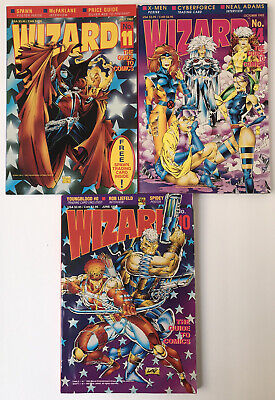 Wizard Comics Magazine 10 June 11 July 14 Oct 1992 Youngblood Spawn X-Men Poster