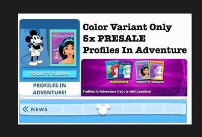 Presale: 5 Card Color Variant Set-Profiles In Adventures-Topps Disney Collect