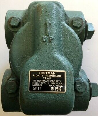 """New Never Used Hoffman #56Ft 50 Series Float And Thermostatic Trap*1-1/4"""",15Psi"""