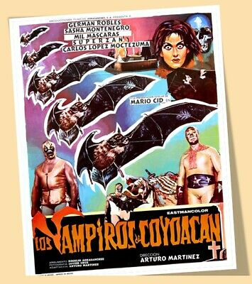 EL SANTO MIL MASCARAS DR WAGNER POSTER MEXICAN WRESTLING MEXICO LUCHAS PRINT