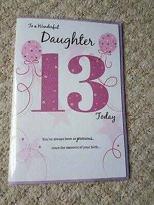 13th GRANDSON BIRTHDAY CARD AGE 13 ~ QUALITY CARD WITH LOVELY VERSE BY IC/&G