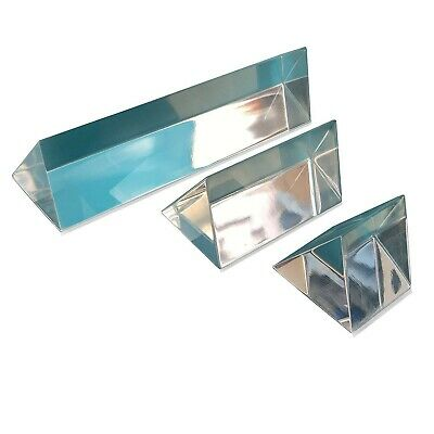 "Sciencent Set of 3 Acrylic Prisms 1"" 2"" 4"""