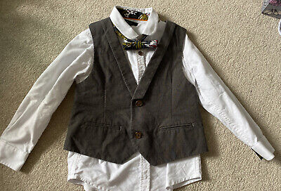 Boys Autograph M&S Shirt Bowtie And Waistcoat 3-4 Years. Worn Once