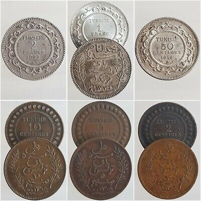 Monnaies TUNISIE Francs centimes 1891-1917 French protectorate Choisissez !