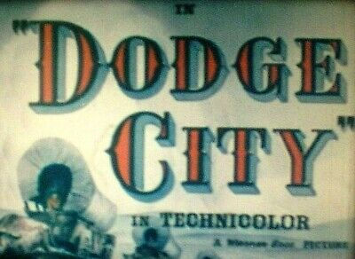 DODGE CITY - Super 8mm complete sound feature 1939 on 6-400' reels Red Fox LPP