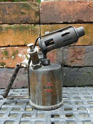 Genuine Vintage British Made Burmos Paraffin Brass Blow Torch Lamp Untested