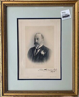 "Antique Autograph Of King Edward Vll UK (1841-1910) Signed ""Albert Edward 1896"""