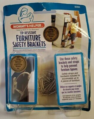 Mommy's Helper Tip-Resistant Furniture Safety Brackets For 4 Furniture Pieces