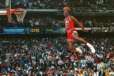 1988 SLAM DUNK CONTEST MICHAEL JORDAN NBA BASKETBALL Poster 24 x 36 inch