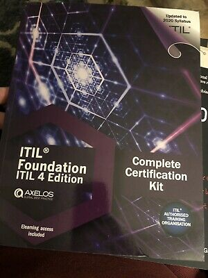 ITIL Foundation ITIL 4 Edition Complete Certification Kit Updated 2020 Syllabus