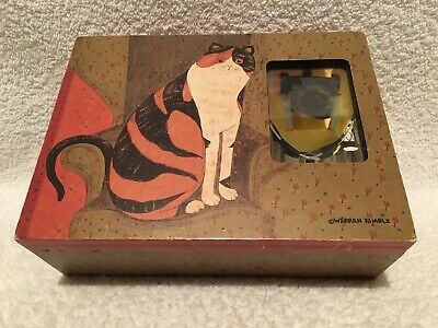 HTF My Cat Wood Box Warren Kimble 2.5 x 3.5 Photo Fetco Petco Treasure Storage
