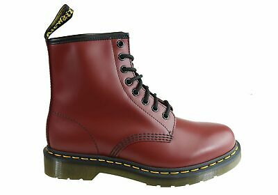 Dr Martens 1460 Cherry Smooth Unisex Leather Lace Up Fashion Boots - ShopShoesAU