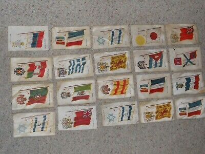 20 Early 1900's Nebo Cigarettes/Cigar Silks Set-Flags-Nice!!!