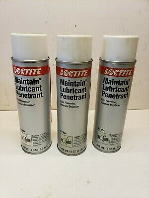 Lot 3 Loctite 81204 Maintain Lubricant Penetrant Rust Preventer 16oz Aerosol Can