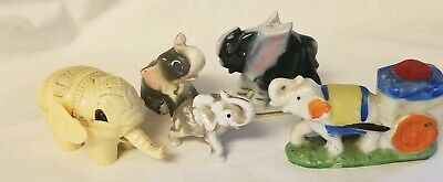 Lot Of Vintage Elephant Figurines 1 Pincushion