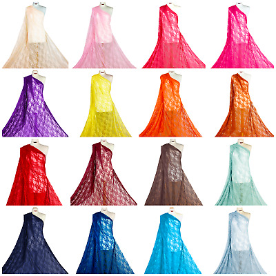Premium Quality 4 Way stretch Floral Lace Bridal Fabric Spandex Material