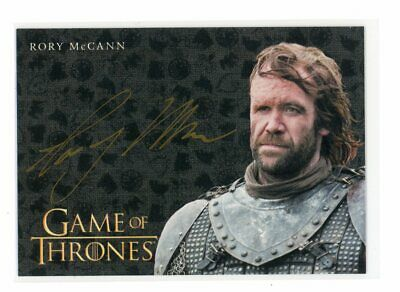 Game of Thrones Inflexions Rory McCann as The Hound Gold Auto Autograph Card