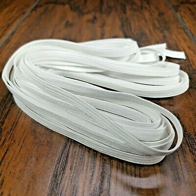 """1/4"""" Inch Elastic Knit in White or Black Flat for Face Masks Narrow Band Sewing"""