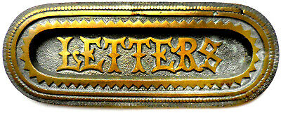 Antique LETTERS Slot -- Heavy, Ornate, Cast Brass from England - 19th Century