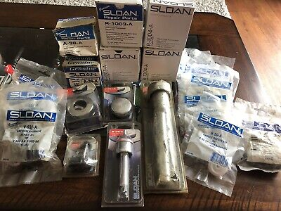 20 Pcs Sloan Valve Urinal And Toilet Parts Kits Mega Lot