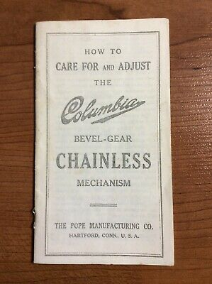 Vintag Columbia Bevel Gear Chainless Care Instructions