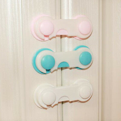 5 x Infant Child Safety Cabinet Door Fridge Drawer Cupboard Catch Lock Clip wj