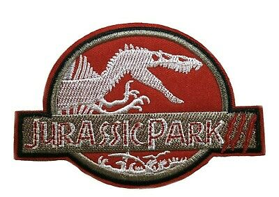 """3.5/"""" Jurassic Park Ranger Movie Cosplay Tactical Embroidered Iron-On Patch Dino"""