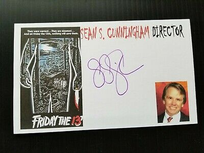 """""""Friday The 13Th"""" (Director) Sean S. Cunningham Autographed 3X5 Index Card"""