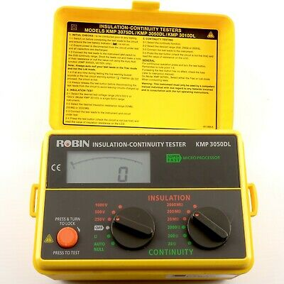 ROBIN INSULATION CONTINUITY TESTER KMP 3050DL | Guaranteed | Inc. VAT