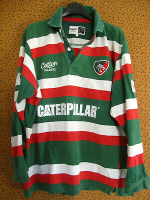 Maillot rugby Leicester Tigers Caterpillar Vintage Cotton traders - M