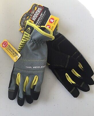 High Visibility Work Gloves with Touchscreen Capibilities Grease Monkey Tool Handler Pro Mechanic Gloves