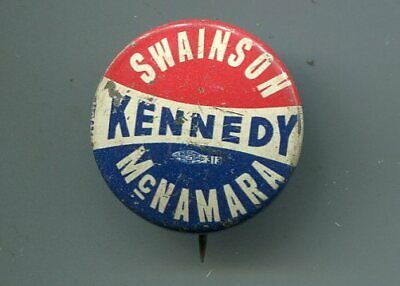 John F Kennedy JFK Presidential Political Bendable Button Pin NOS New 1960s