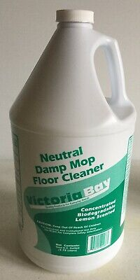 Victoria Bay brand Neutral damp mop floor cleaner - 1 Gallon Concentrated Lemon
