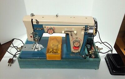 Vintage Ambassador Deluxe Sewing Machine w/CaseTested & Works! 1960s?