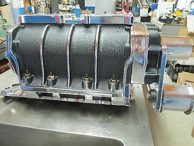 New complete gasser Blower package 671 show polished 350 Chevy 327 sbc 6-71 bbc