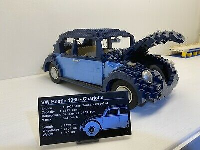 CUSTOM /'DIE CUT/' STICKERS for Lego 10187 VOLKSWAGEN BEETLE with BONUS EXTRA/'S!