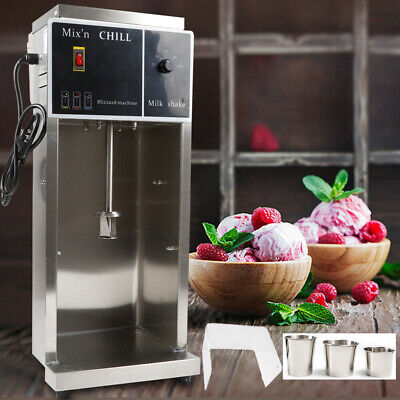 110V Electric Ice Cream Maker Machine Automatic Mixer Blizzard Shaker Blender US