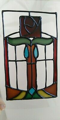 Set of 3 x Hand painted sun catchers.  Stained glass style. Art Nouveau