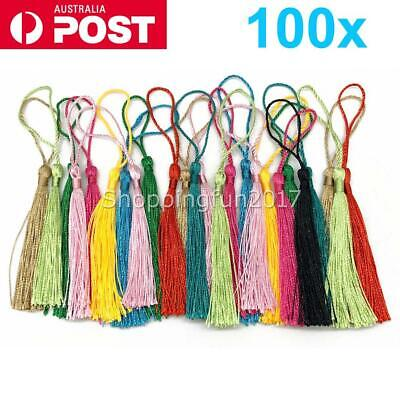 100x Tassel Silk Tassels Trim Cotton Decor Trimming Lace Handmade Craft Sewing