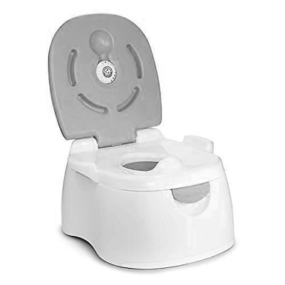 Munchkin Baby Toddler Potty Seat Step Mutltistage 3 In 1 Toilet Training - Grey