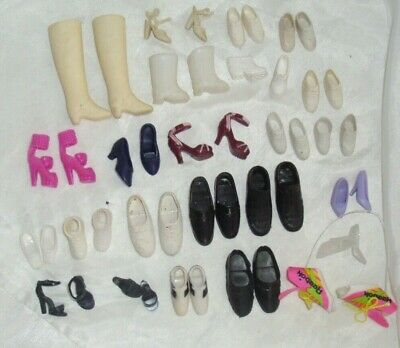 Vintage Lot of 24 Pairs Barbie & Ken Shoes