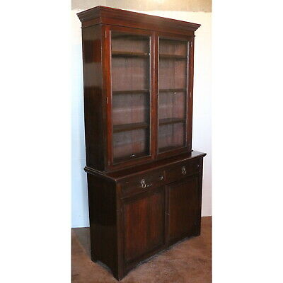 A Quality Large Victorian Maple & Co Walnut Bookcase over Cabinet Base