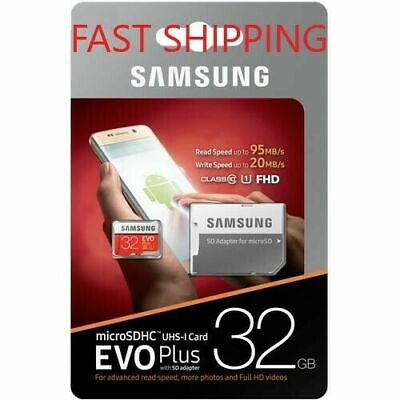 Samsung 32GB Micro SD Card SDHC EVO+ 95MB/s UHS-I Class 10 TF Memory Card HD