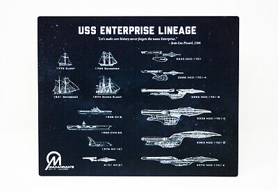 Star Trek USS Enterprise Lineage Dye Sublimation Blueprint Plaque