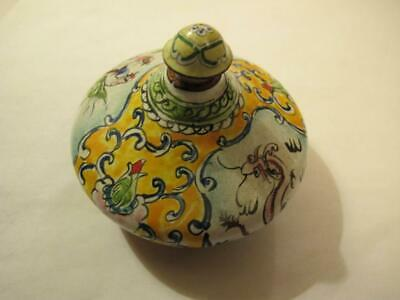 antique old china enamel snuff bottle,no crack light wear chinese