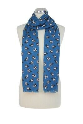 Womens Puffin Scarf In Navy By Peony London - Spring Summer / Gift