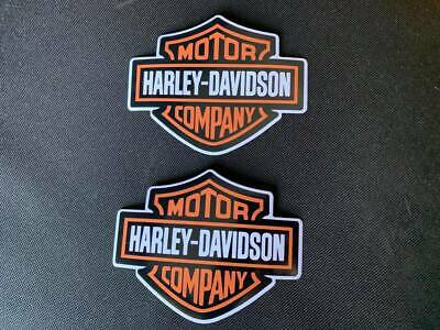 2 Harley Davidson bar & shield Large 4inch sticker Car Bumper Motorcycle Helmet