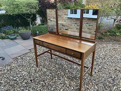 1960's Dresing Table With Three Mirrors And Drawers